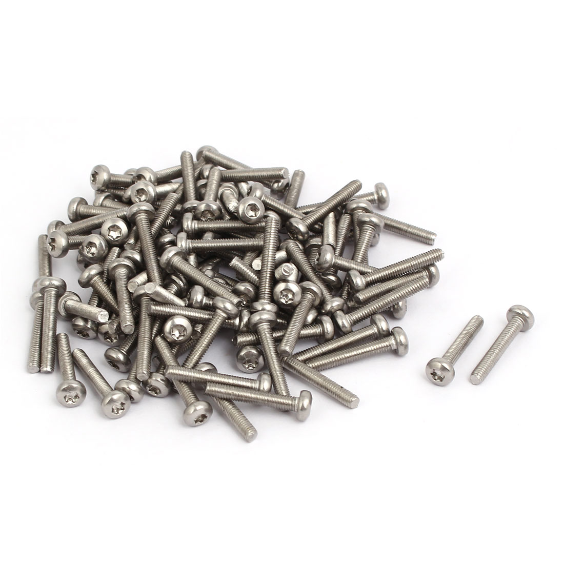 M3x18mm 304 Stainless Steel Button Head Torx Screws Fasteners 100pcs