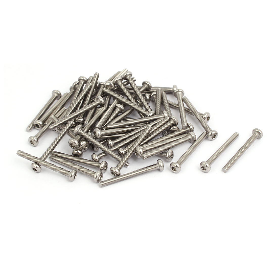 M3x30mm 304 Stainless Steel Button Head Torx Screws Fasteners 60pcs