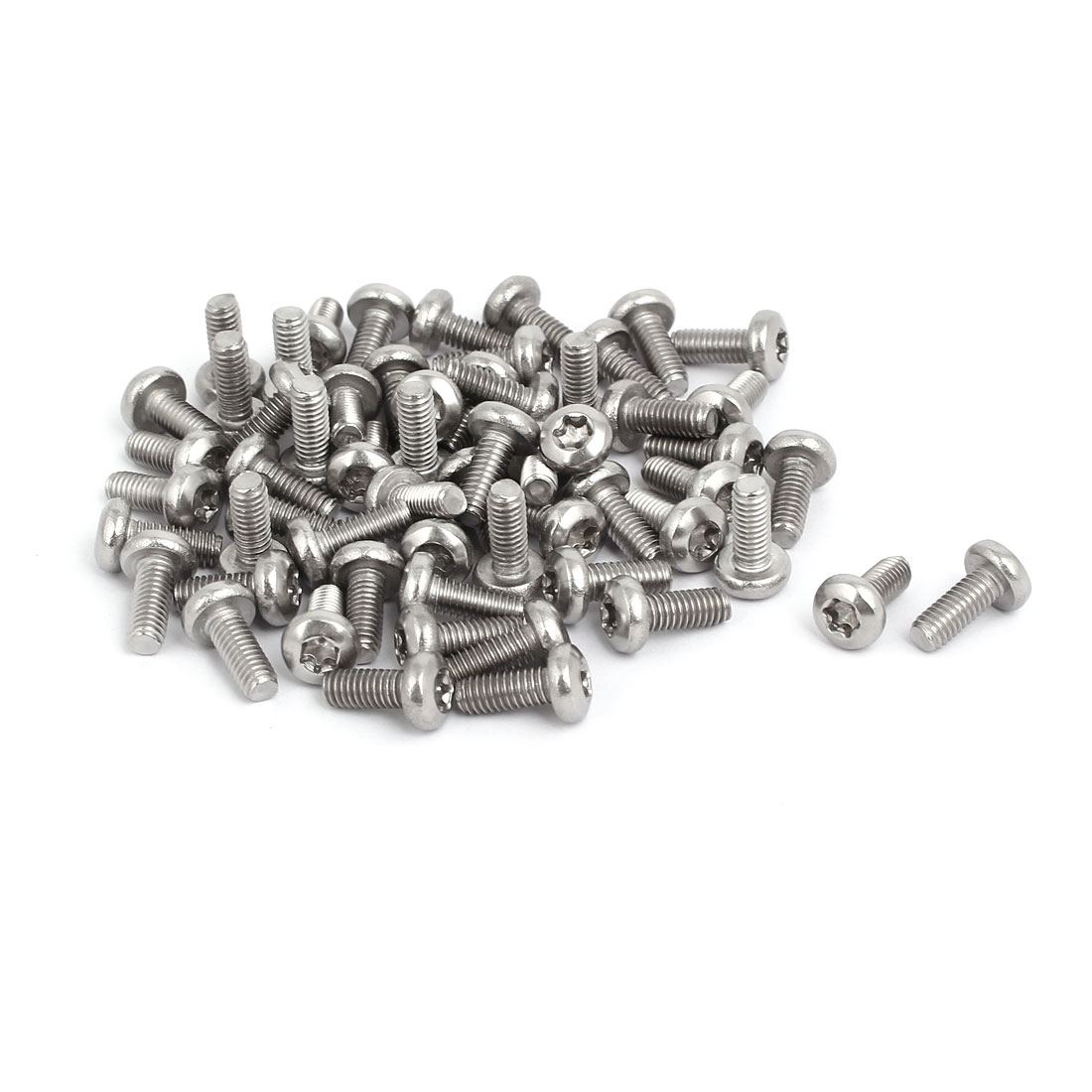 M4x10mm 304 Stainless Steel Button Head Torx Screws Bolts T10 Drive 60pcs