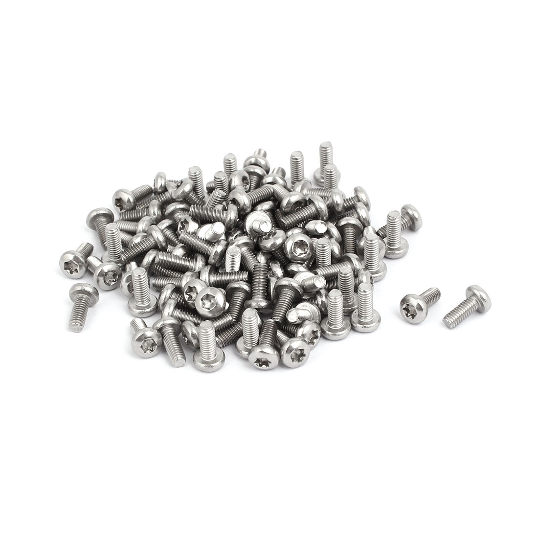 M4x10mm 304 Stainless Steel Button Head Torx Screws Bolts T20 Drive 100pcs