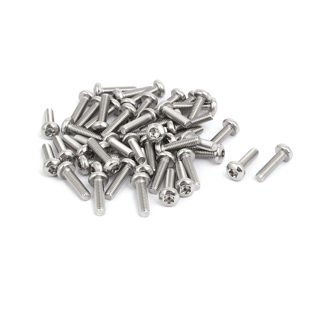M4x16mm 304 Stainless Steel Button Head Torx Screws Bolts T20 Drive 50pcs