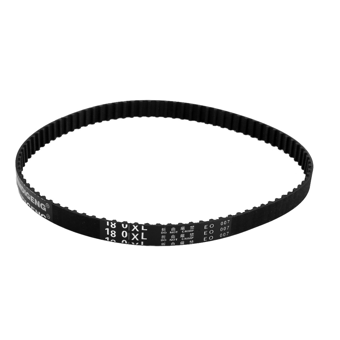 180XL 90 Teeth 10mm x 5.08mm Rubber Timing Geared Belt for Stepper Motor Black