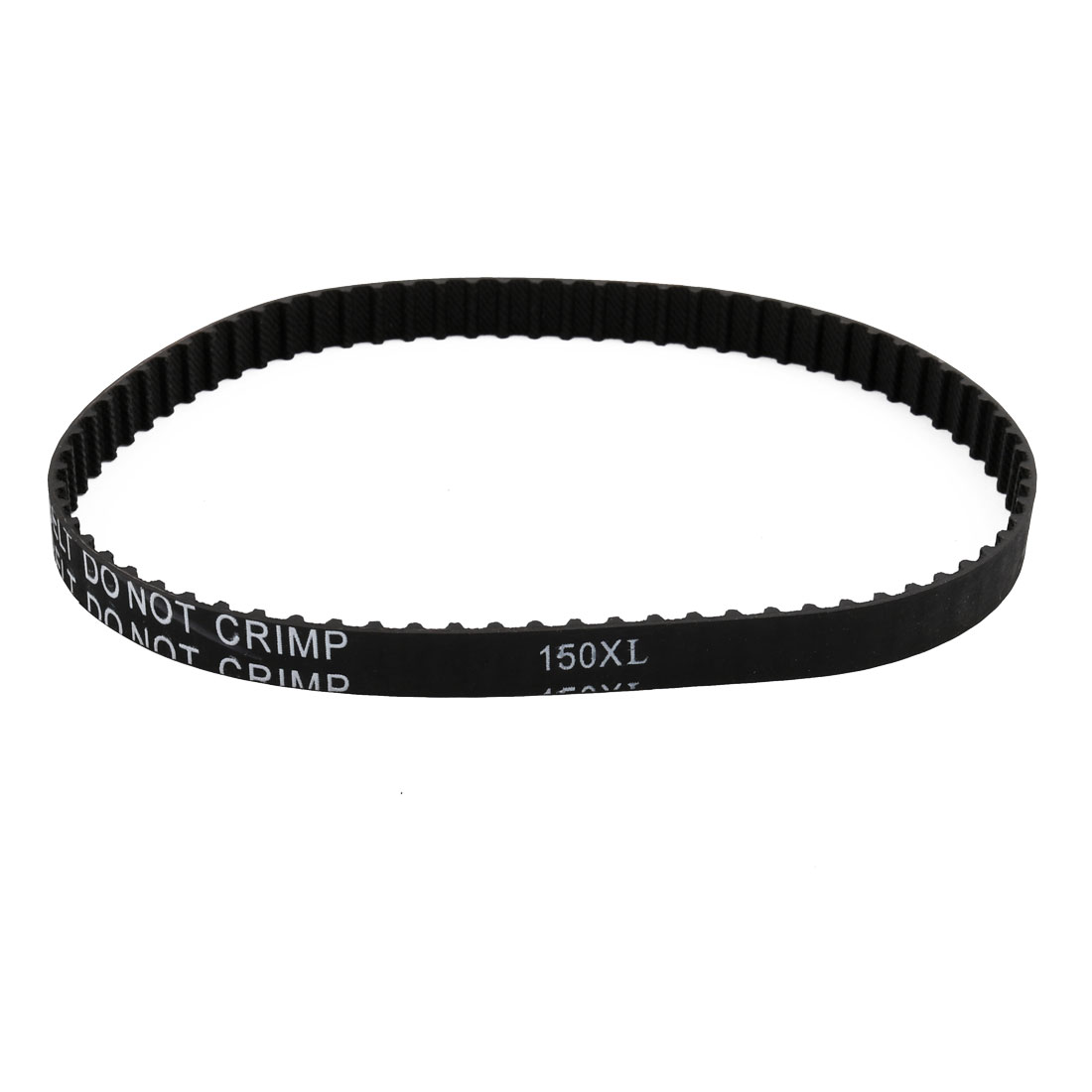 150XL 75 Teeth 10mm x 5.08mm Rubber Timing Geared Belt for Stepper Motor Black