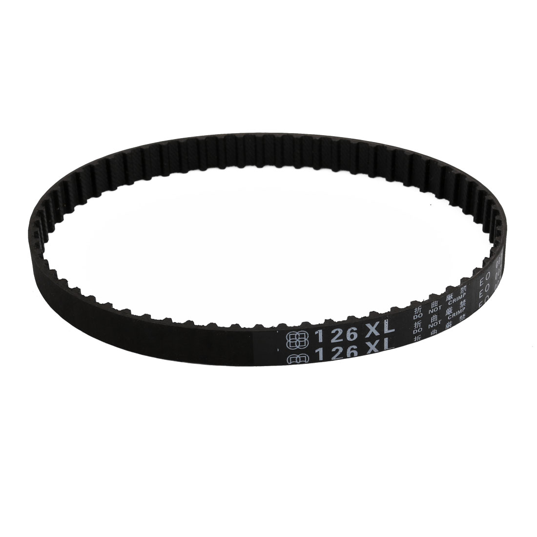 126XL 63 Teeth 10mm x 5.08mm Rubber Timing Geared Belt for Stepper Motor Black