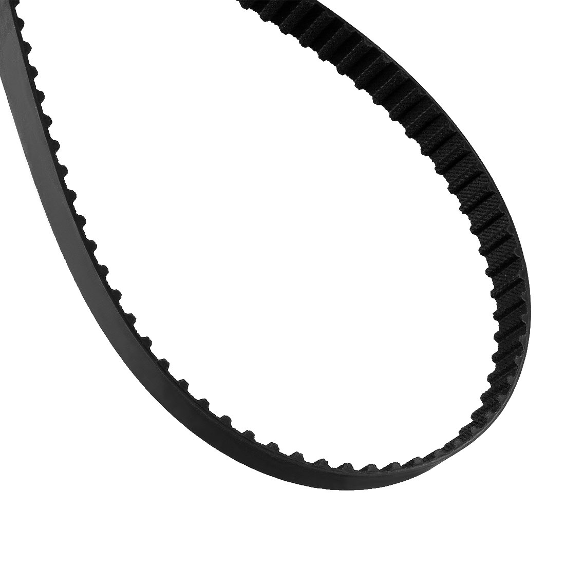 278XL 137 Teeth 10mm Width 5.08mm Pitch Stepper Motor Rubber Timing Belt Black