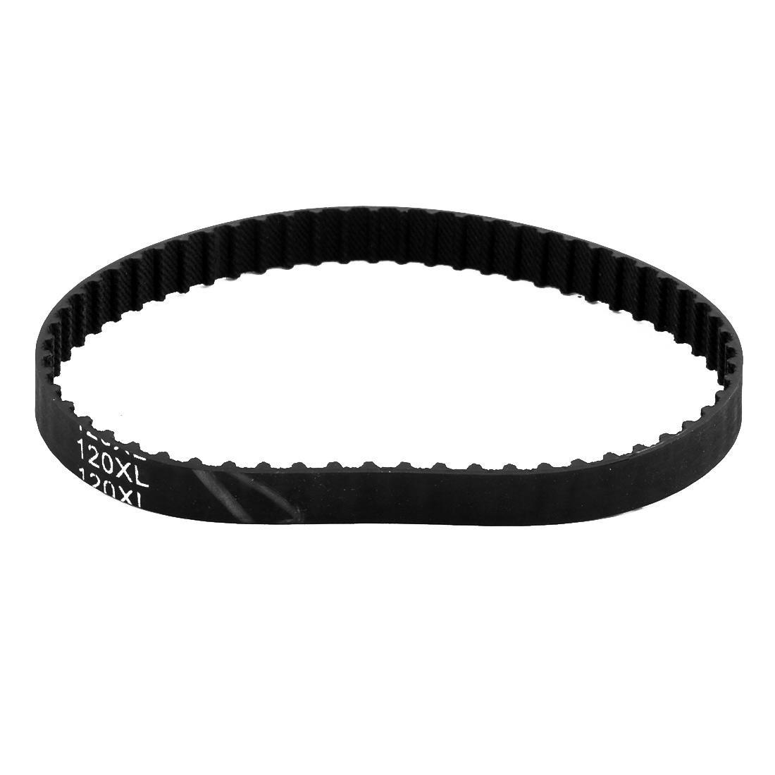120XL 60 Teeth 10mm Width 5.08mm Pitch Stepper Motor Rubber Timing Belt Black