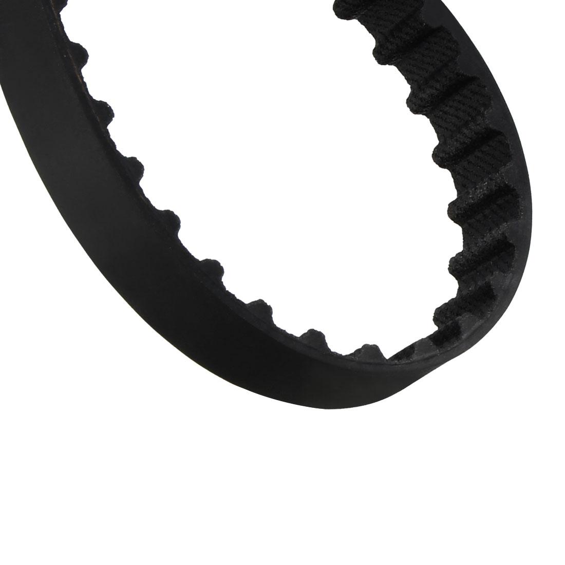 76XL 38 Teeth 10mm x 5.08mm Rubber Timing Geared Belt for Stepper Motor Black