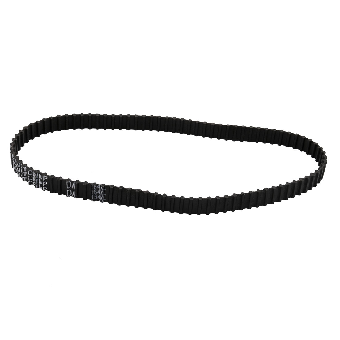 184DXL 92 Teeth 10mm Width 5.08mm Pitch Stepper Motor Rubber Timing Belt Black