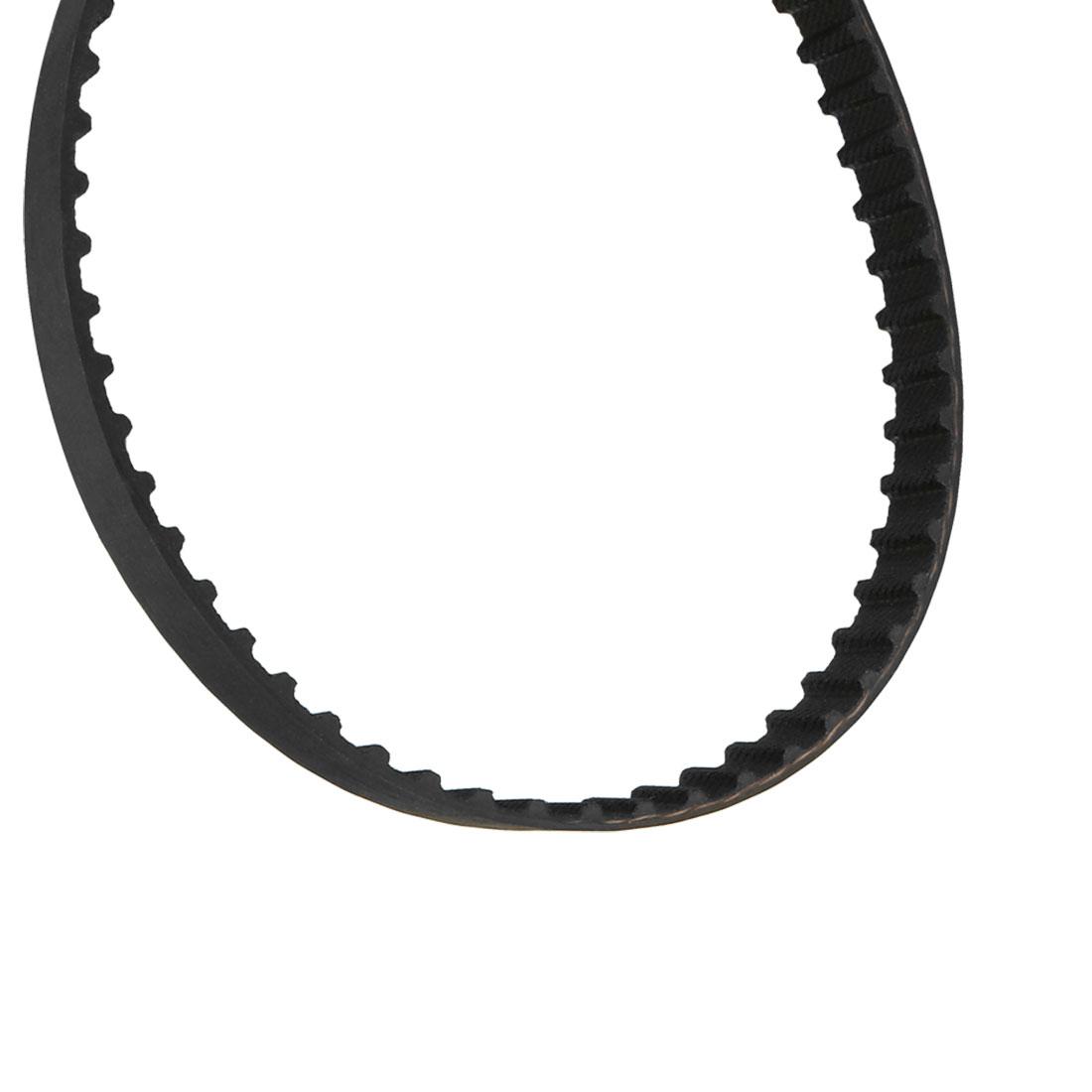 248XL 124 Teeth 10mm Width 5.08mm Pitch Stepper Motor Rubber Timing Belt Black