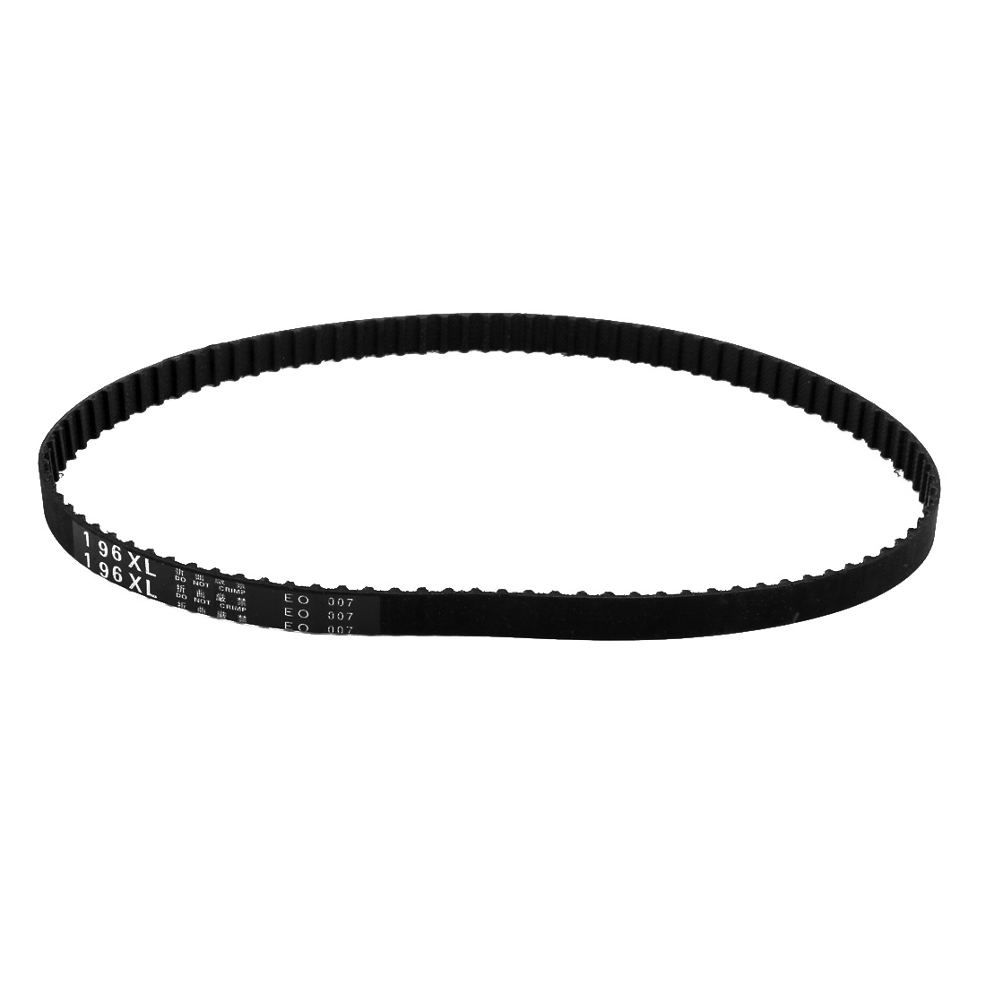 196XL 98 Teeth 10mm x 5.08mm Rubber Timing Geared Belt for Stepper Motor Black