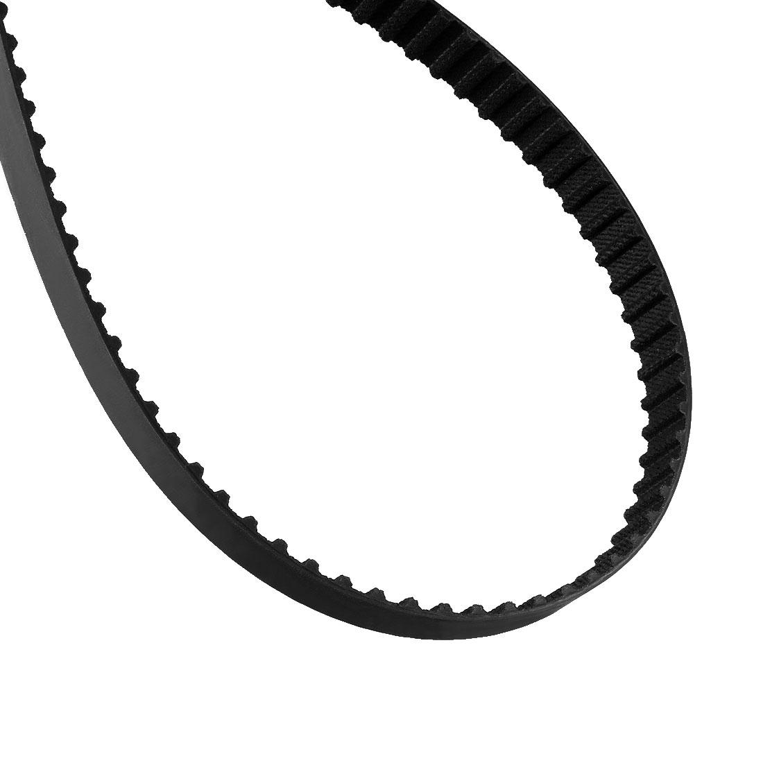 334XL 167 Teeth 10mm Width 5.08mm Pitch Stepper Motor Rubber Timing Belt Black