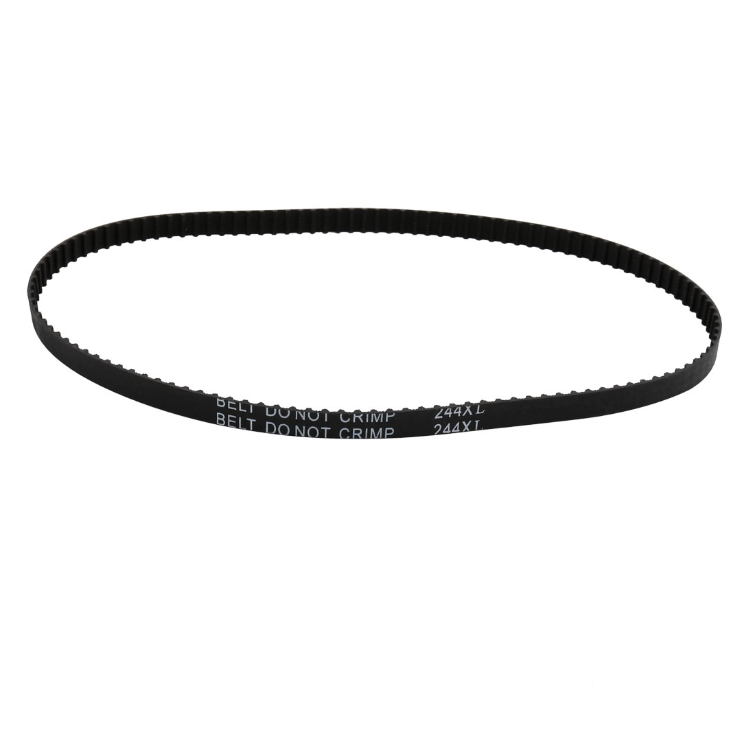 244XL 122 Teeth 10mm Width 5.08mm Pitch Stepper Motor Rubber Timing Belt Black