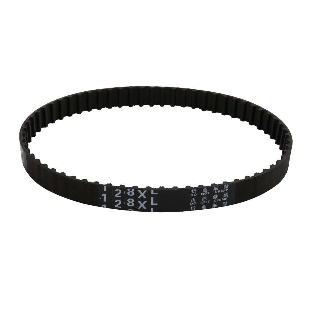128XL 64 Teeth 10mm Width 5.08mm Pitch Stepper Motor Rubber Timing Belt Black