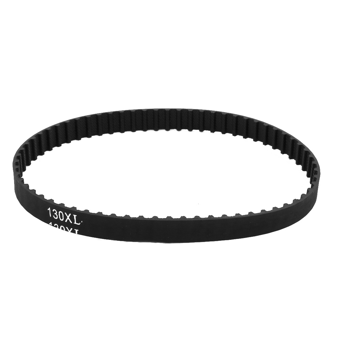 130XL 65 Teeth 10mm Width 5.08mm Pitch Stepper Motor Rubber Timing Belt Black
