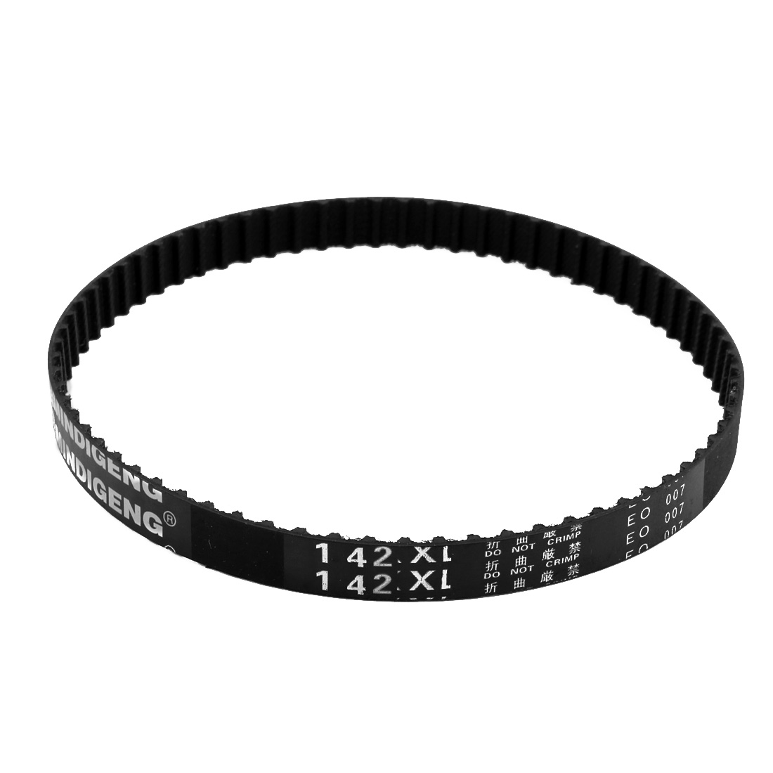 142XL 71 Teeth 10mm x 5.08mm Rubber Timing Geared Belt for Stepper Motor Black