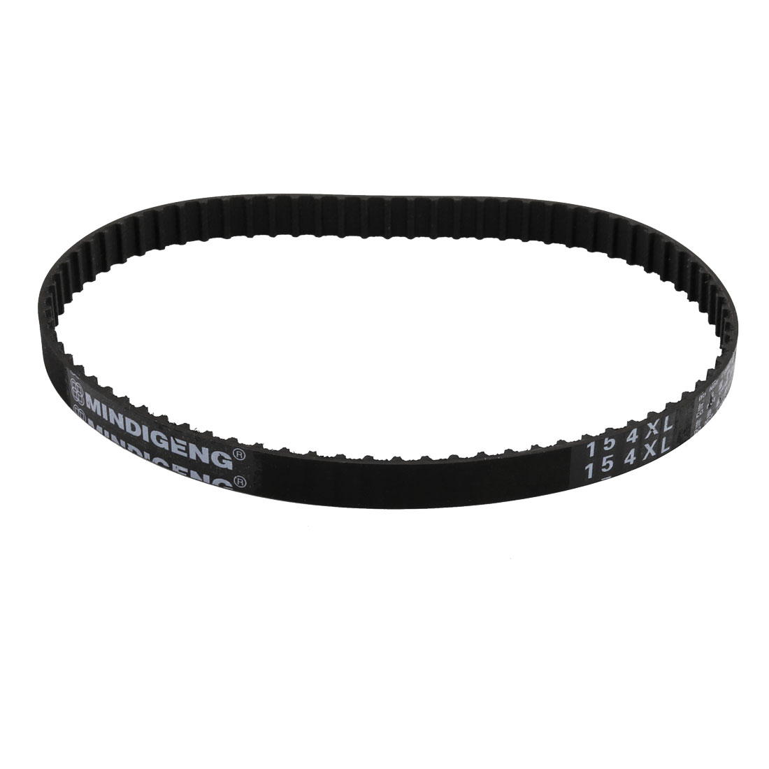 154XL 77 Teeth 10mm Width 5.08mm Pitch Stepper Motor Rubber Timing Belt Black