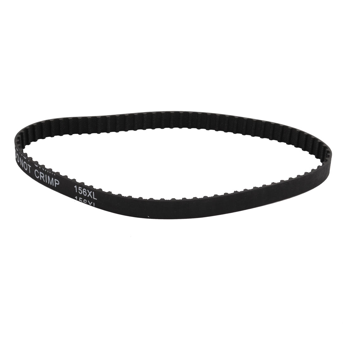 156XL 78 Teeth 10mm Width 5.08mm Pitch Stepper Motor Rubber Timing Belt Black