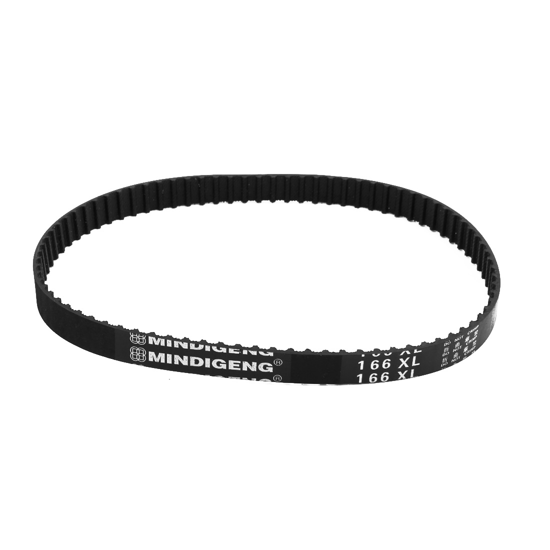 166XL 83 Teeth 10mm Width 5.08mm Pitch Stepper Motor Rubber Timing Belt Black