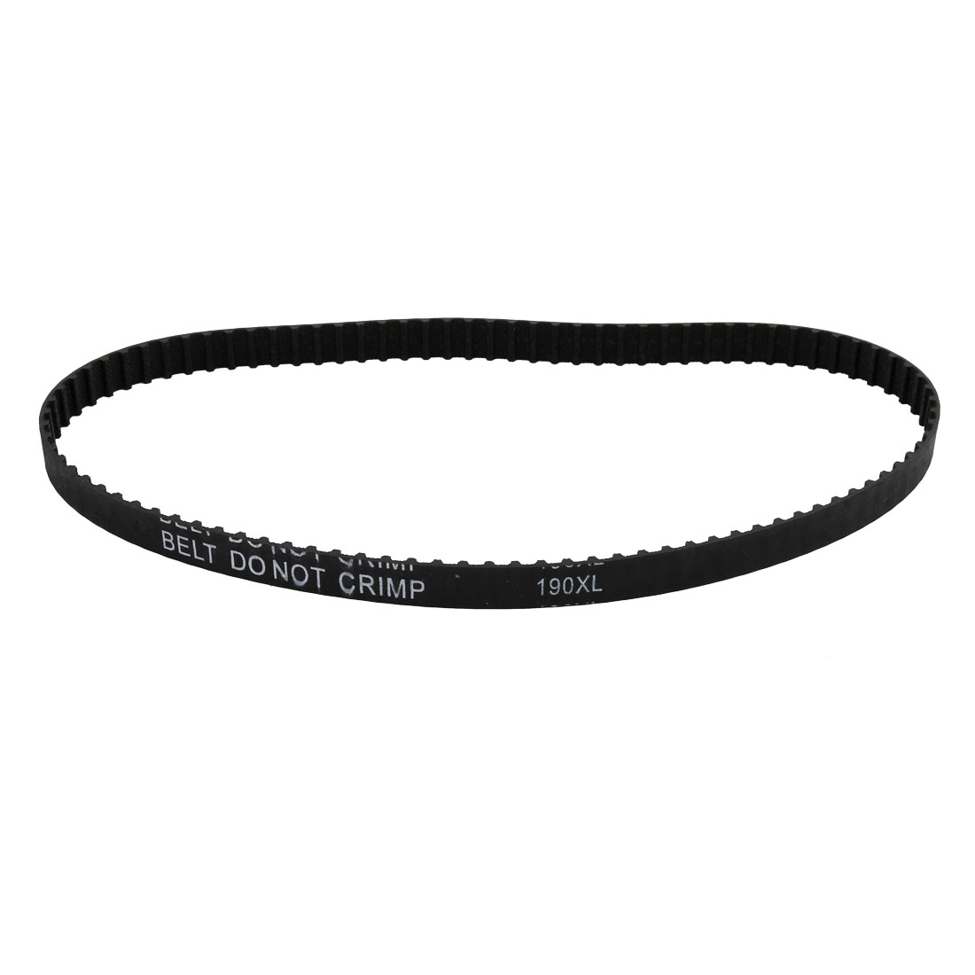 190XL 95 Teeth 10mm Width 5.08mm Pitch Stepper Motor Rubber Timing Belt Black