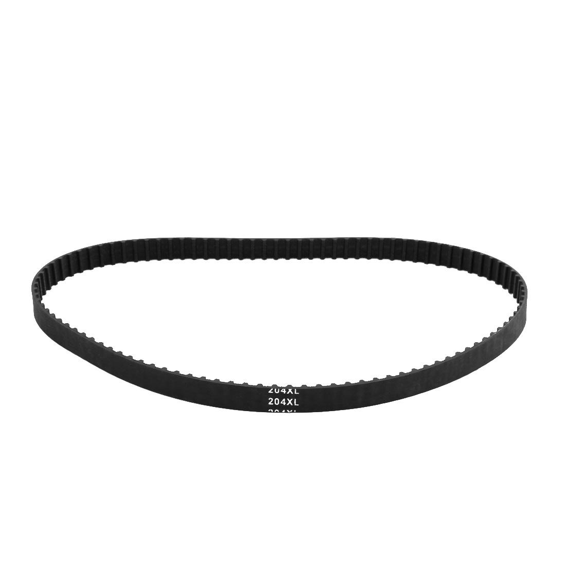 204XL 102 Teeth 10mm Width 5.08mm Pitch Stepper Motor Rubber Timing Belt Black