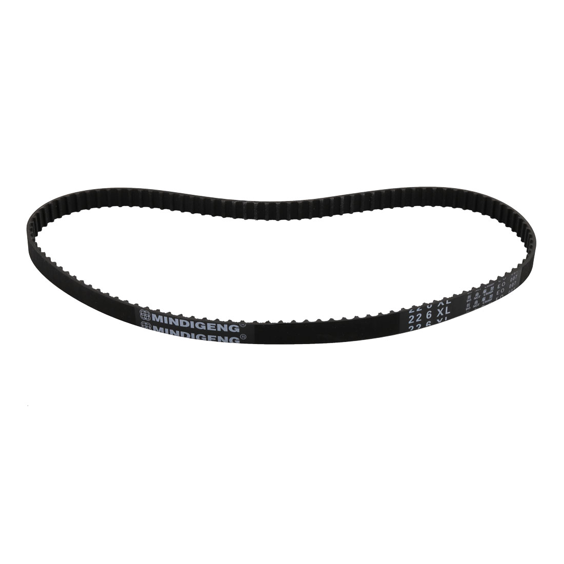 226XL 113 Teeth 10mm x 5.08mm Rubber Timing Geared Belt for Stepper Motor Black