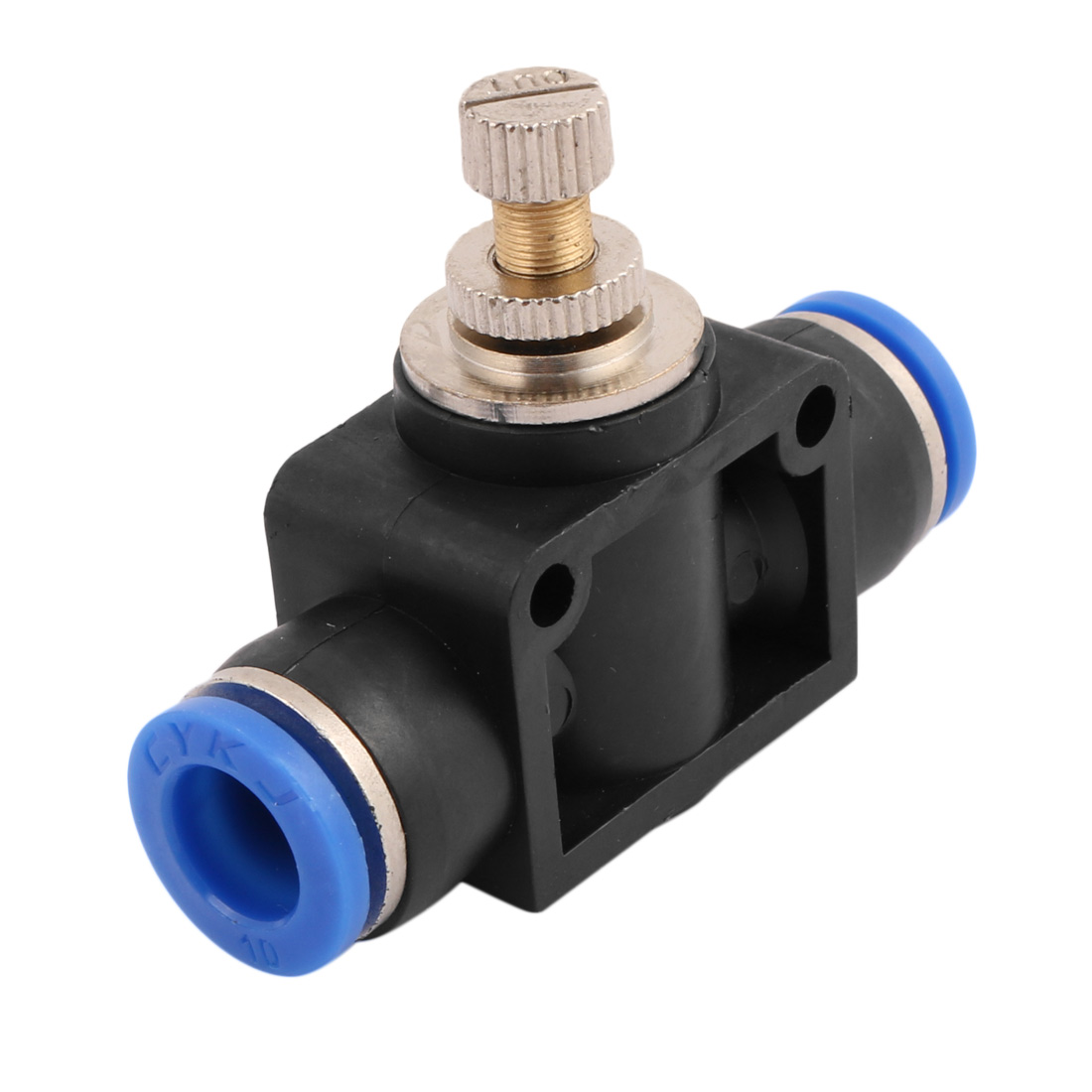 Tube Speed Control Quick Connector Pneumatic Push In Fitting 10mm to 10mm