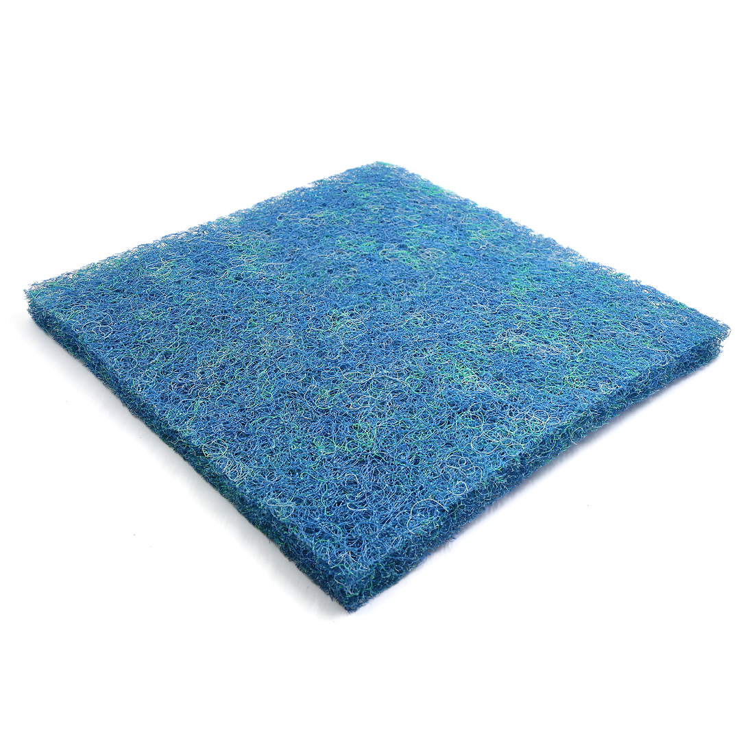 """Blue Rectangular Bio Chemical Mat Filter Sponge for Betta Aquarium 19.7"""" x 19.7"""""""