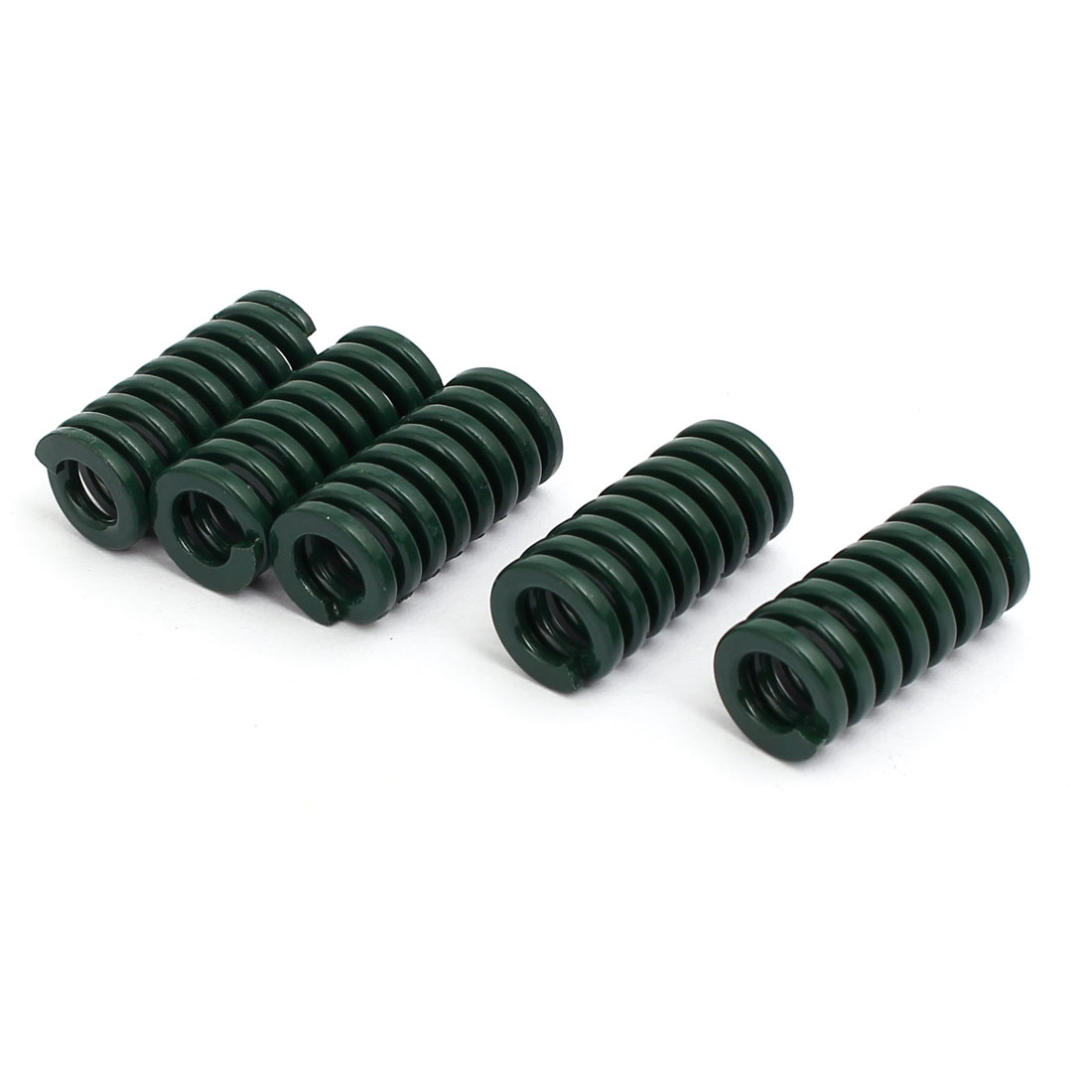 12mm OD 25mm Free Length Heavy Load Compression Mould Die Spring Green 5pcs
