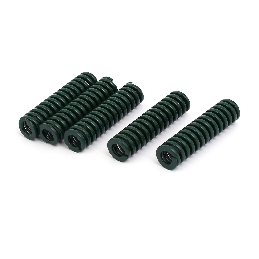 12mm OD 45mm Free Length Heavy Load Compression Mould Die Spring Green 5pcs