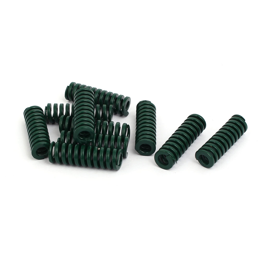 8mm OD 25mm Free Length Heavy Load Compression Mould Die Spring Green 10pcs
