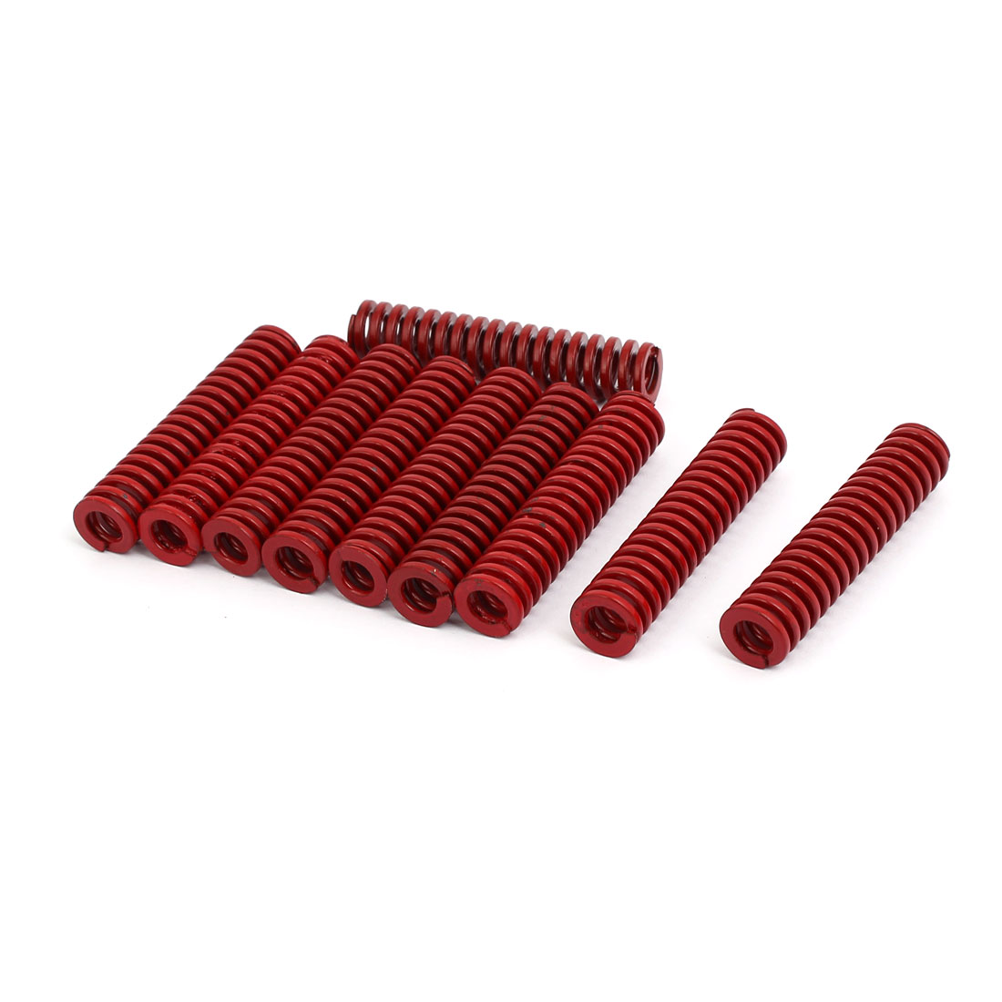 12mm Outer Dia 55mm Length Medium Load Compression Mould Die Spring Red 10pcs