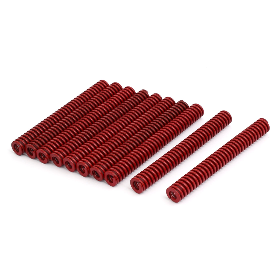 12mm Outer Dia 100mm Length Medium Load Compression Mould Die Spring Red 10pcs