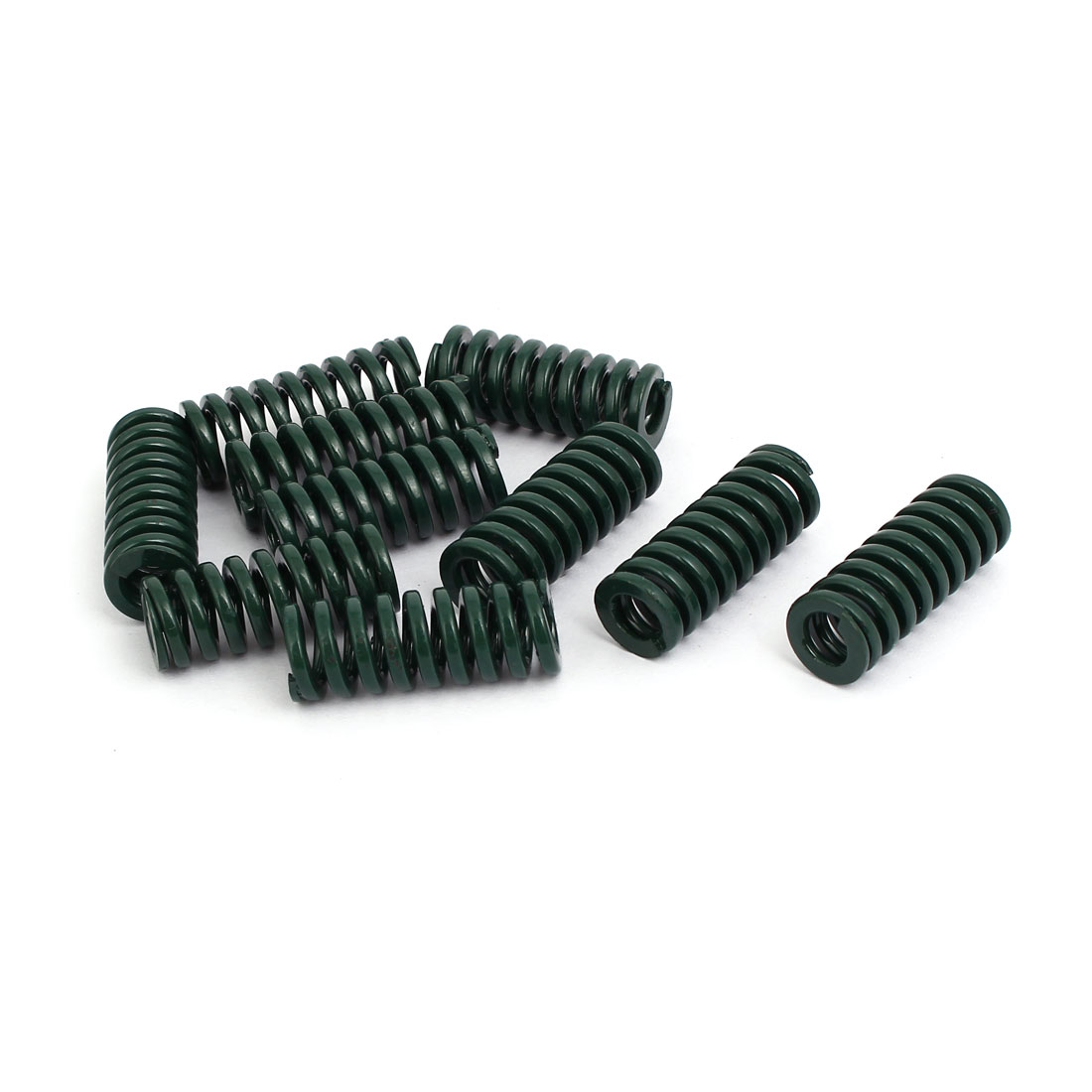12mm OD 30mm Free Length Heavy Load Compression Mould Die Spring Green 10pcs