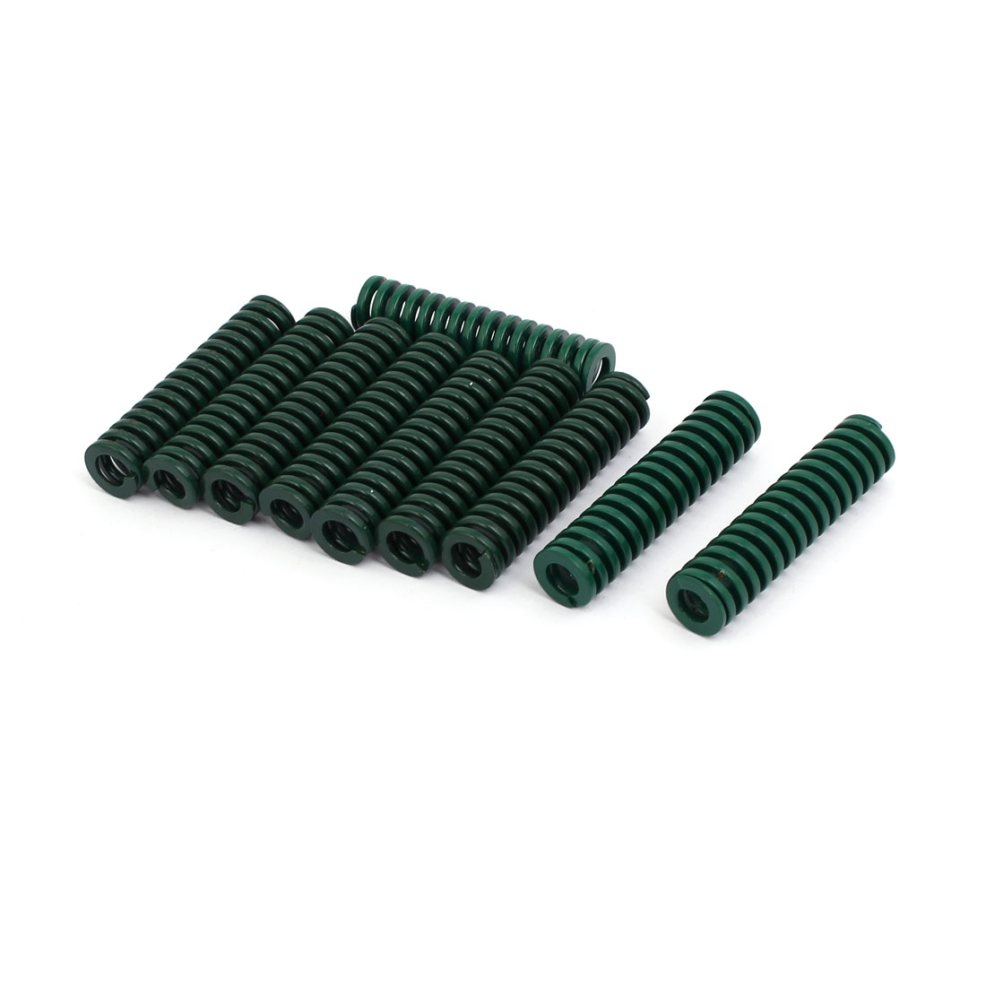 12mm OD 50mm Free Length Heavy Load Compression Mould Die Spring Green 10pcs