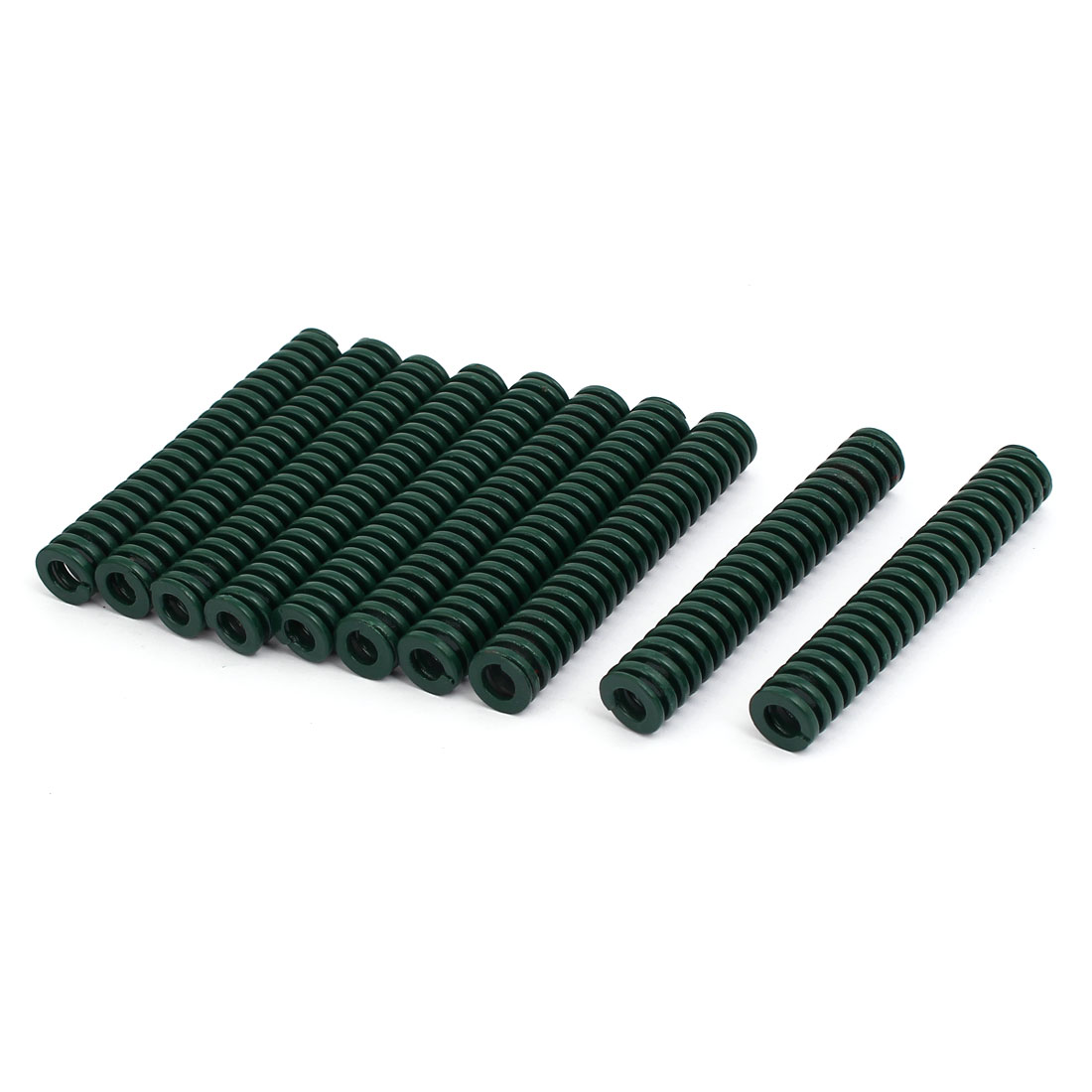 12mm OD 75mm Free Length Heavy Load Compression Mould Die Spring Green 10pcs