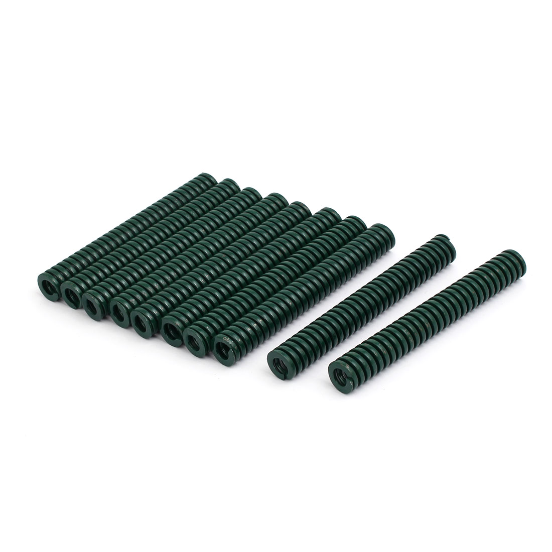 12mm OD 90mm Free Length Heavy Load Compression Mould Die Spring Green 10pcs
