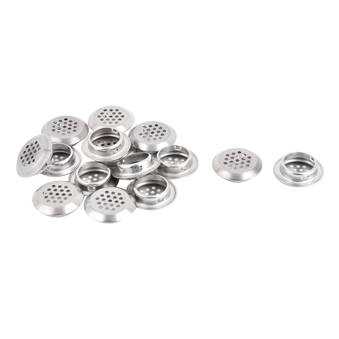 Hotel Dormitory Stainless Steel Round Sink Basin Residue Stopper Strainer 15 Pcs