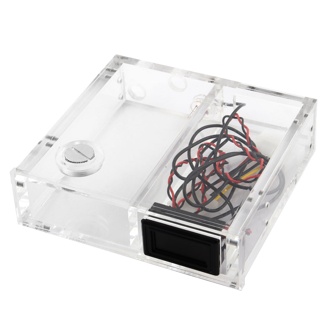 Computer Water Cooling Acrylic Wheel CD ROM Single Optical Thermometer Drive Tank