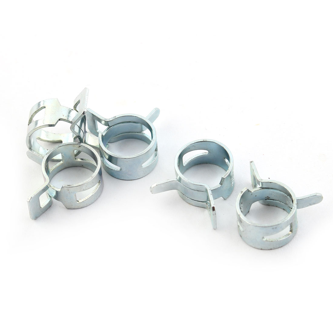5 Pcs Water Cooling Hose Clamp For Pipe M8 Outter Diameter Silver Tone