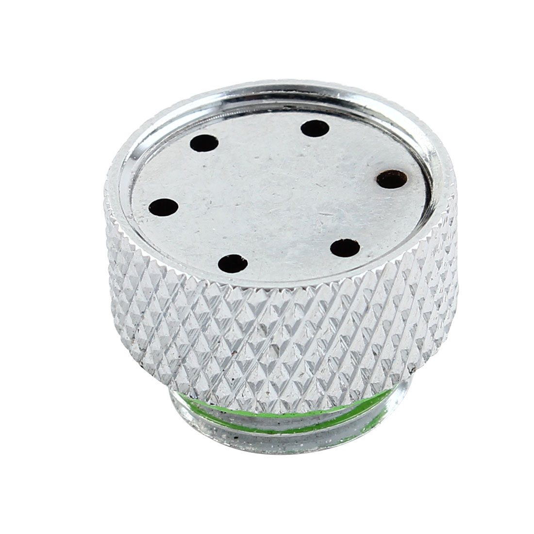 Water Cooling G1/4 Waterstop End Cap Adjustable Automatic Exhaust Vent Valve Silver Tone