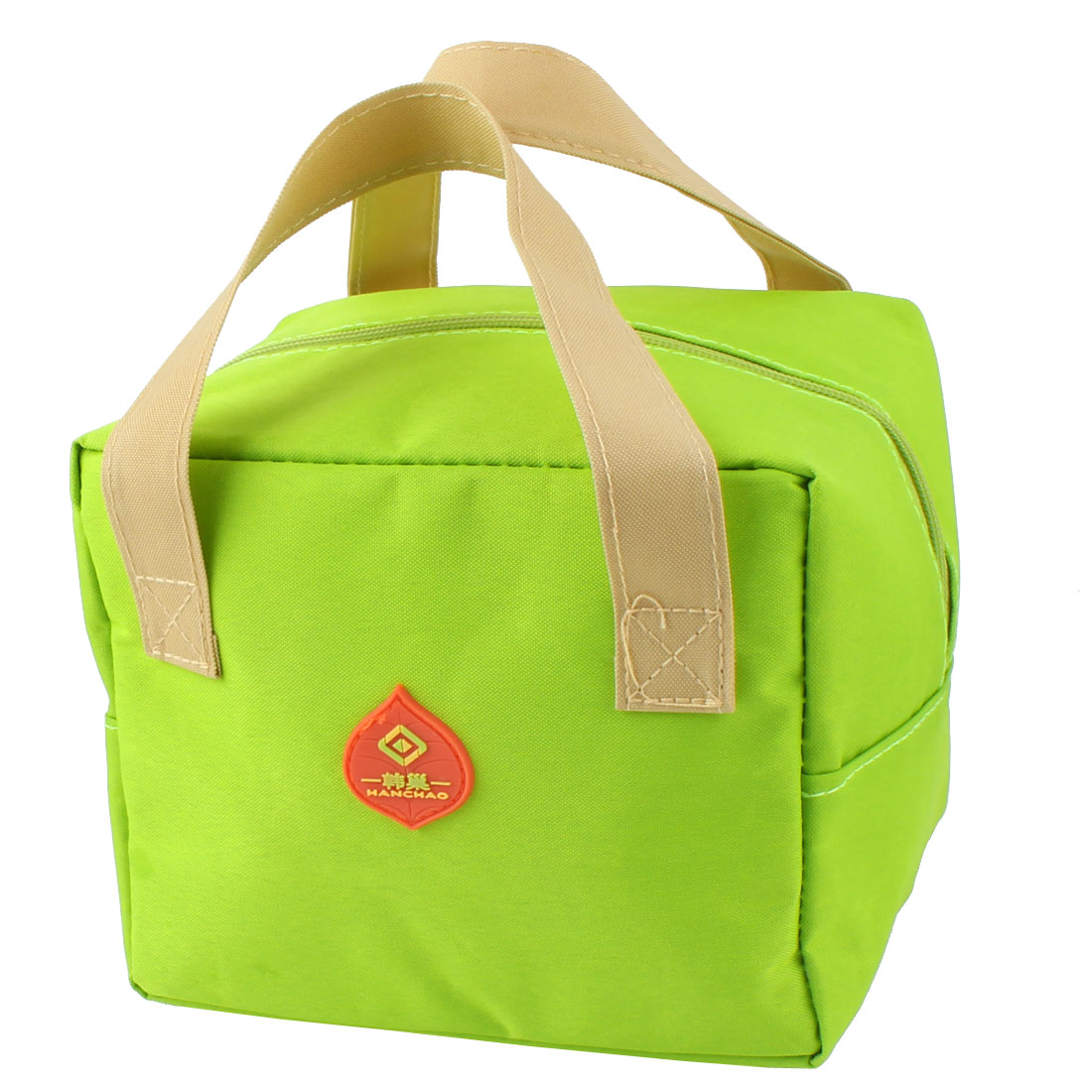 Outdoor Portable Rectangle Thermal Cooler Insulated Lunch Bag Tote Picnic Container Pouch Green