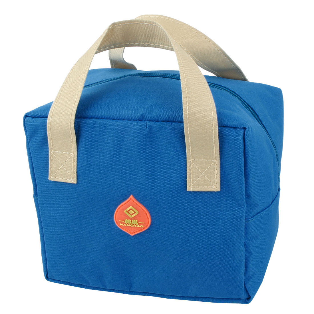 Outdoor Portable Rectangle Thermal Cooler Insulated Lunch Bag Tote Picnic Container Pouch Blue