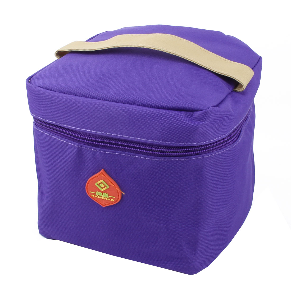 Office School Portable Thermal Insulated Cooler Bag Lunch Pouch Container Purple