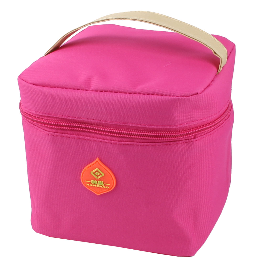 Outdoor Picnic Portable Thermal Insulated Cooler Bag Lunch Pouch Container Fuchsia