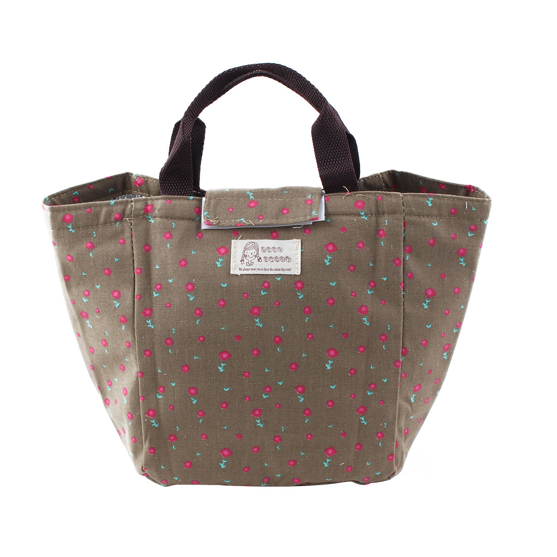 Women Canvas Portable Insulated Thermal Cooler Lunch Box Carry Tote Picnic Storage Bag