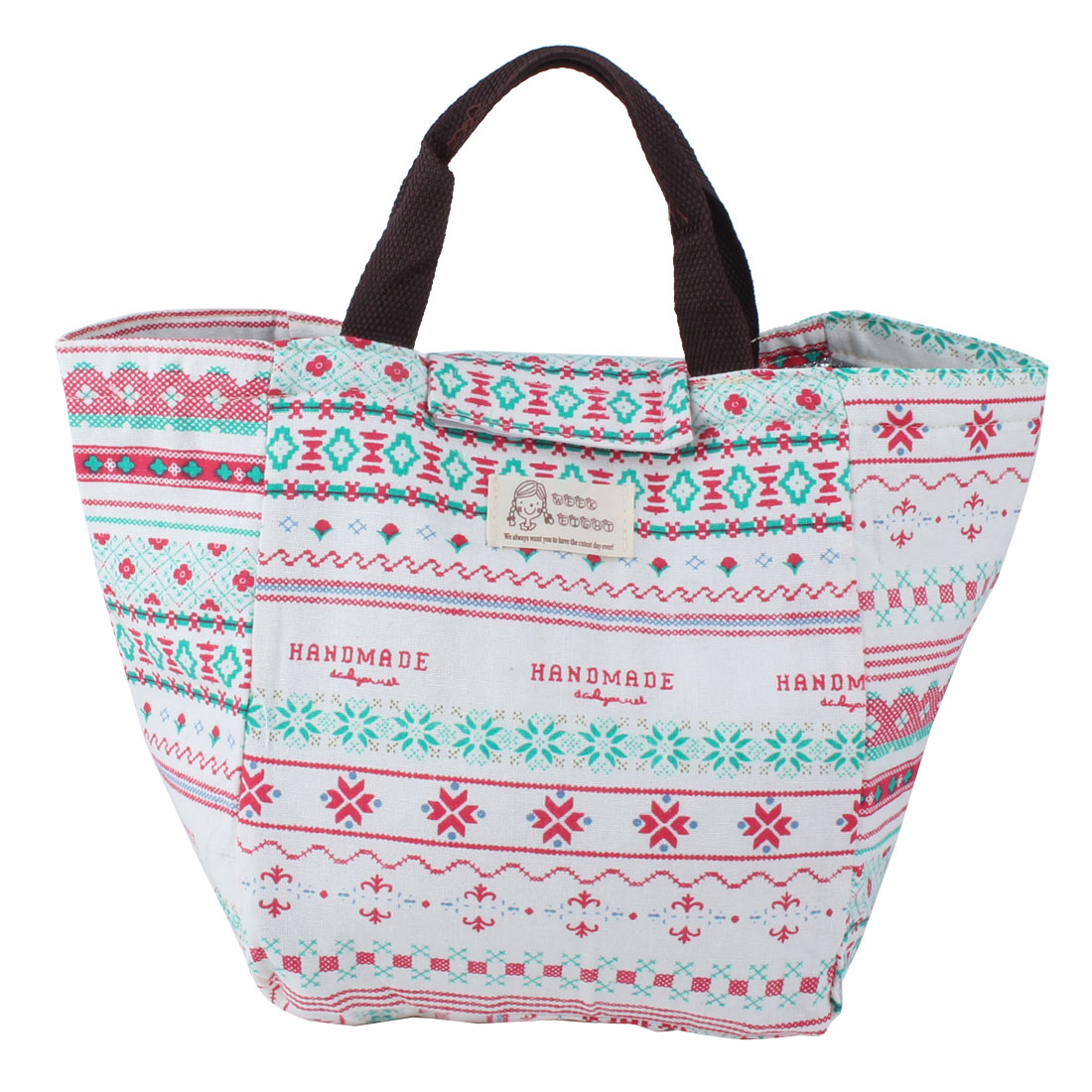 Office School Canvas Portable Insulated Thermal Cooler Lunch Carry Tote Picnic Case Storage Bag