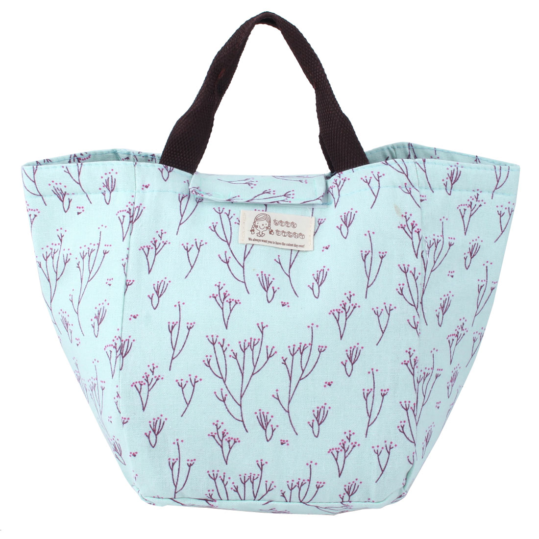 Women Outdoor Travel Printing Design Lunch Bag Handbag Picnic Tote Carry Box Storage