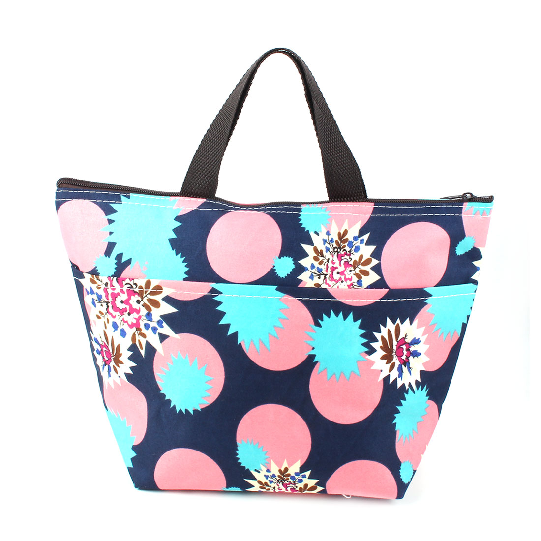 Outdoor Travel Portable Printing Insulated Cooler Lunch Carry Tote Bag Picnic Container