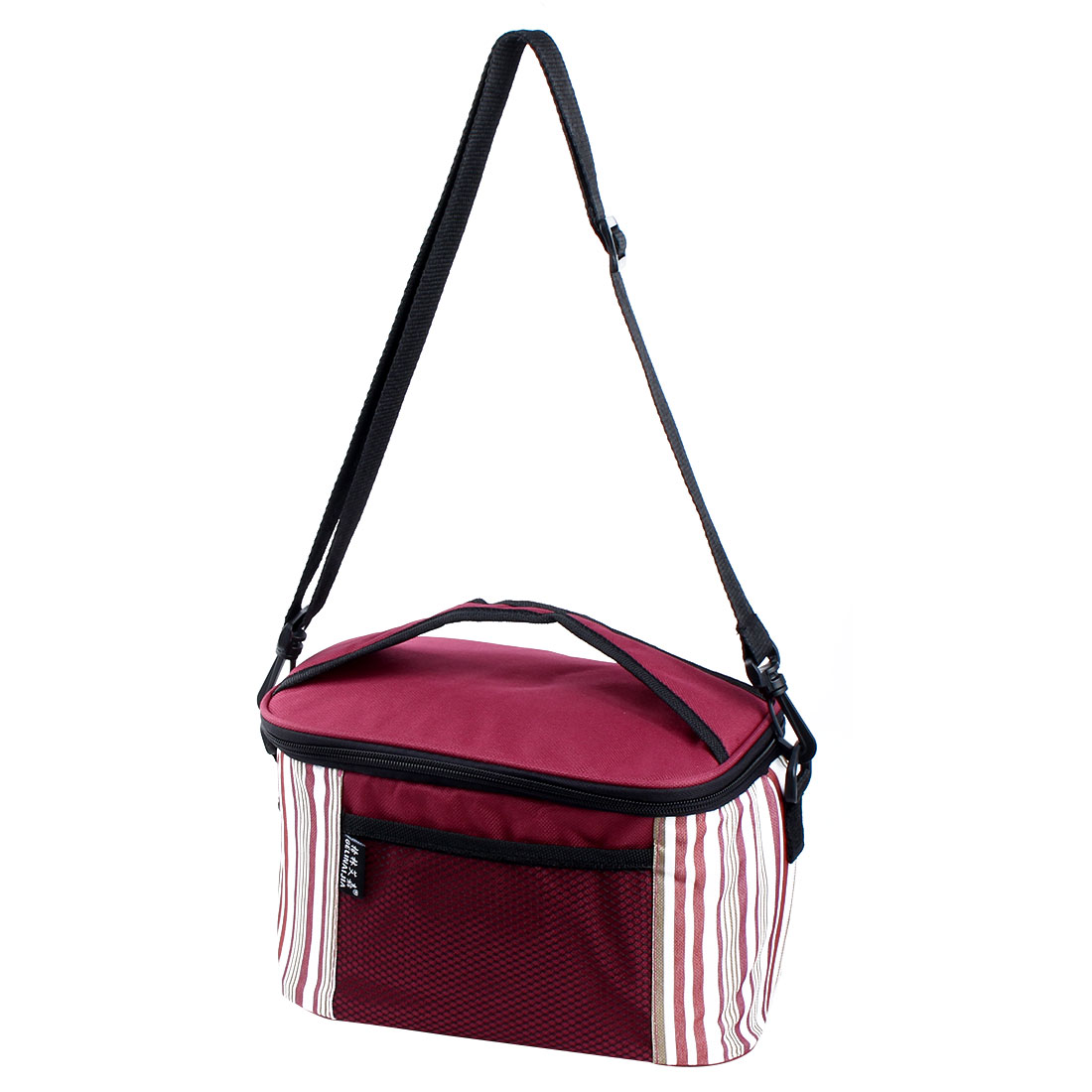 Outdoor Portable Insulated Thermal Cooler Lunch Picnic Box Container Storage Bag Burgundy