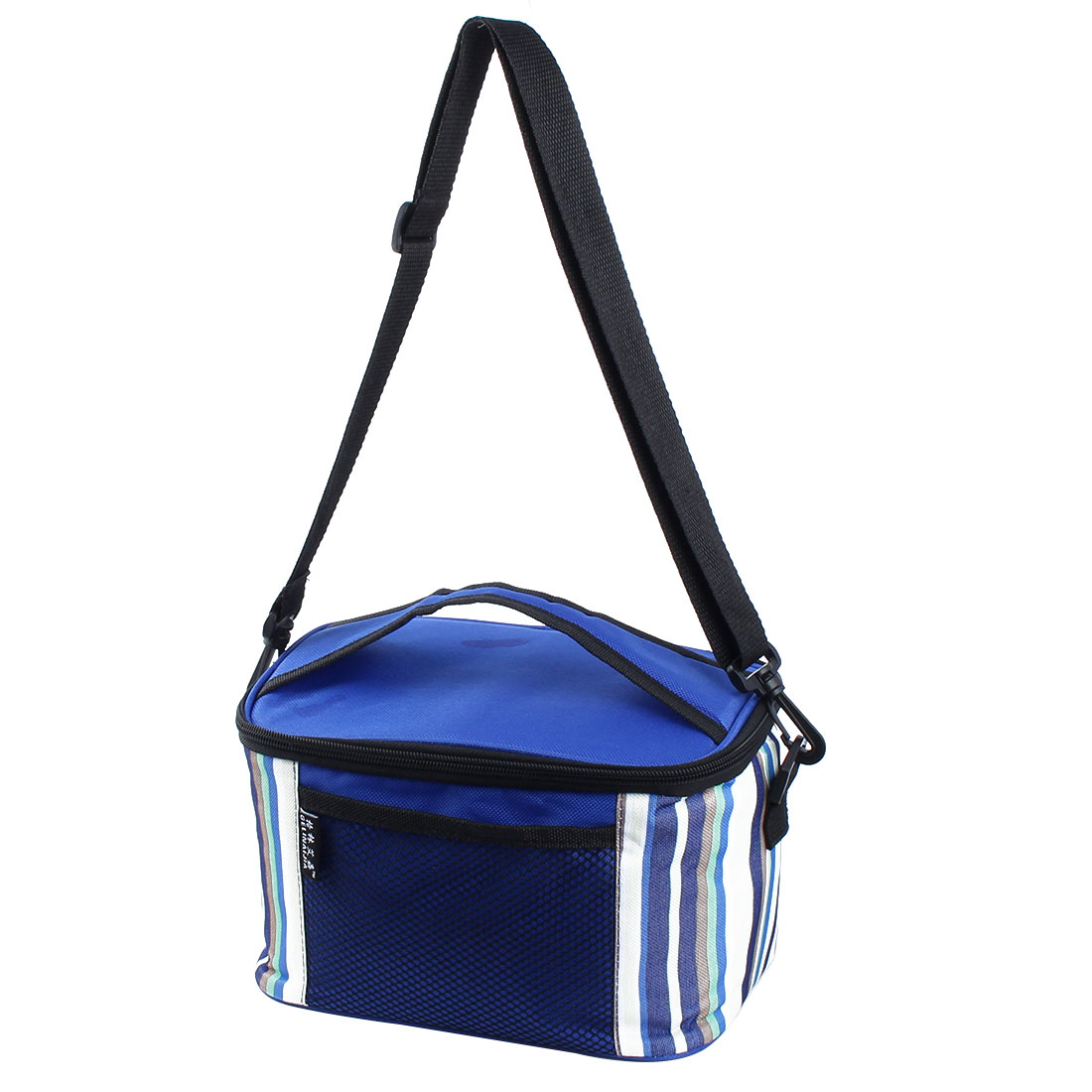Outdoor Camping Insulated Thermal Lunch Picnic Cooler Box Carry Tote Bag Storage Blue